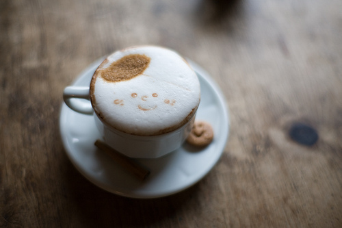 cappuccino, cinnamon, coffee, cookie, cute
