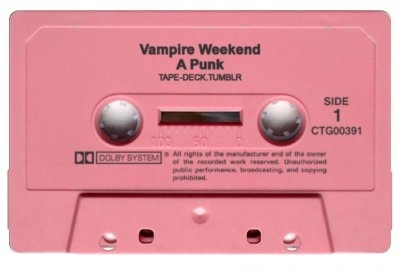 cassette player, music, pink, vampire weekend