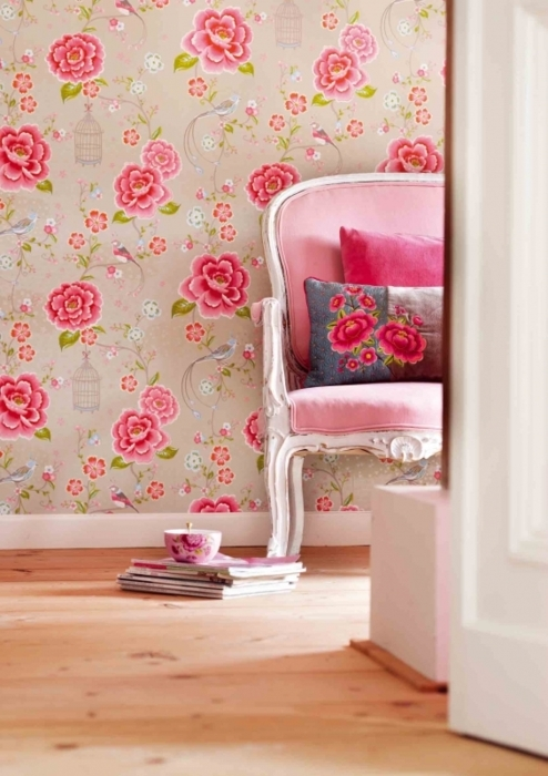 chair, girly, home, house, pink