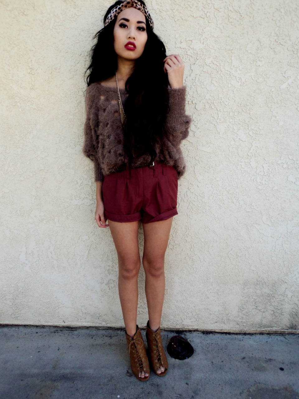cheetah, cute outfit, fashion, hair, headband