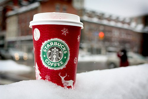 christmas, coffee, starbucks, starbucks coffee, winter