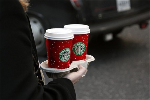 christmas, coffee, starbucks, winter
