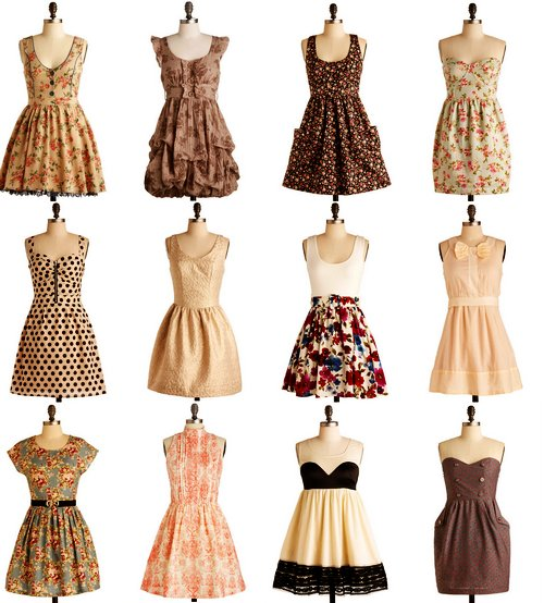 clothes, dress, vintage