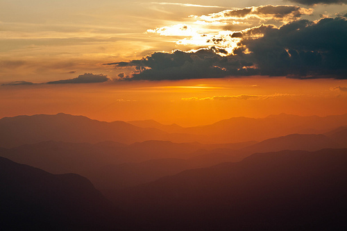 cloud, clouds, landscape, light, mountain, orange, photography, sky, sun, sunrise, view, yellow