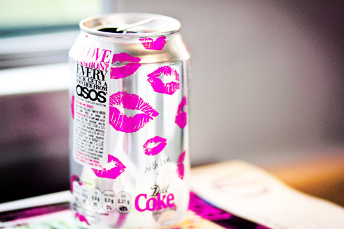 coca, coca cola, coke, cola, cute, diet coke, drink, eye, lip, lips, lipstick, photo, photography, picture, pink, pink coke, pink coke!, pink lipstick