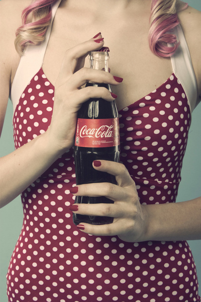 coca cola, coke, cute, girl, nails