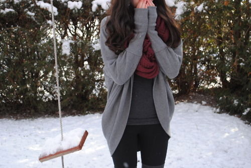 cold, girl, scarf, winter