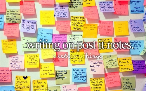 colorfull notes, girly things, post it