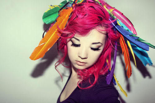colors, cool, diy, fucsia, girl, hair, lashes, photo, pink, pretty, sweet