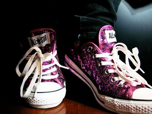 converse, fashion, glitter, pink, shoes