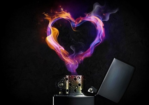 cool, fire, heart, light, lighter