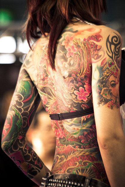 cool, girl, hair, perfect girl, tattoo