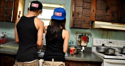 couple, cuple, cute, girl, guy, hat, hot, love, obey, photography