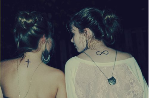 cross tattoo, girls , hipster, infinity tattoo, tatto