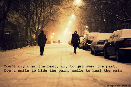 cry, pain, past, quote, smile - image #348653 on Favim.com