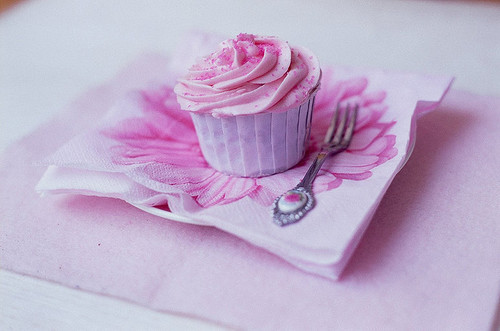 cupcakes, cute, flower, mini, pink