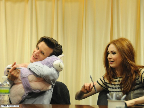 cute, doctor who, dr who, karen gillan, matt smith