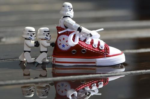 cute, funny, lego, sneaker, star wars, storm trooper
