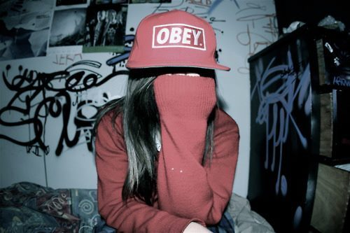 cute, girl, hat, obey, swag