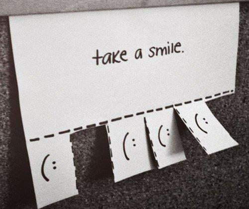 cute, laugh, paper, smile, take a smile