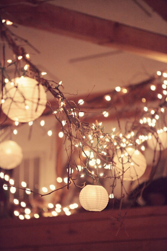 decor, lights, pretty, room