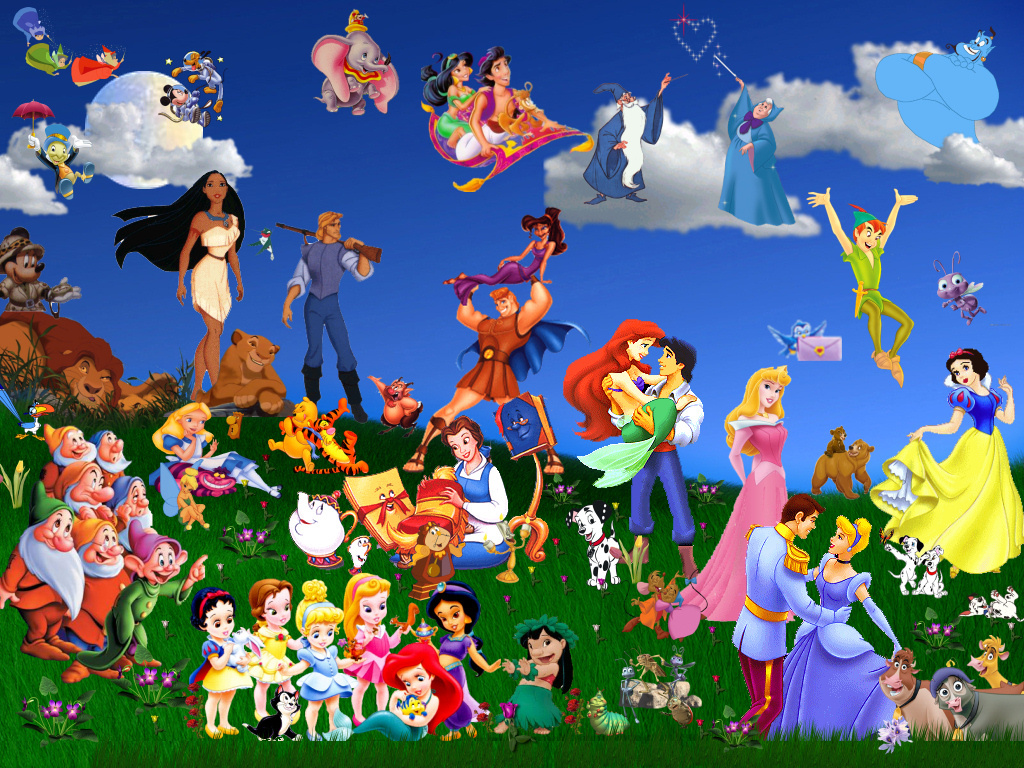 disney, disney charactors, friendship, love