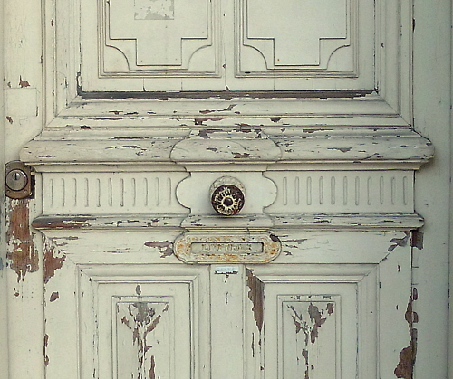 door, french, pretty, shabby chic, white