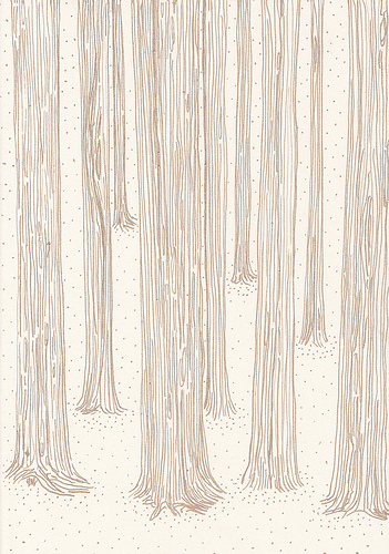 drawing, forest, illustration, pencil, pretty - image ...