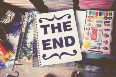 drawing, notebook, photography, text, the end