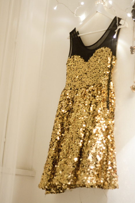 dress, fashion, ginlovers, gold, new years