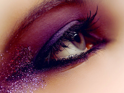 eye, girl, make up, mascara, purple