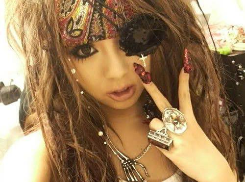 eye-patch, gyaru, make up, nails, rina sakurai