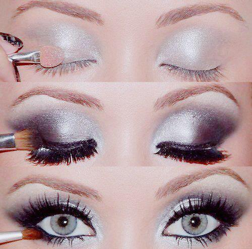 eyes, make up, silver