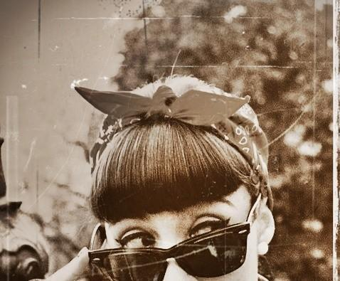 fancy, girl, photo, pin-up, rockabilly, sunglasses, vintage