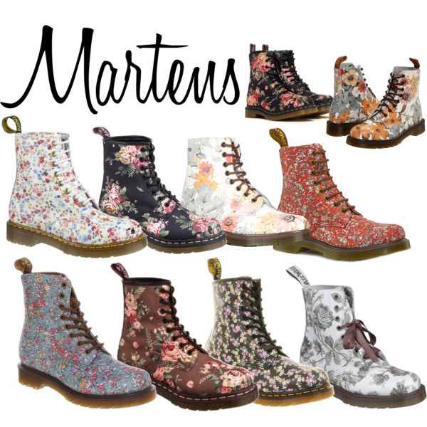 fashion, flower girl, martins, my polyvore set, my set, polyvore, shoes