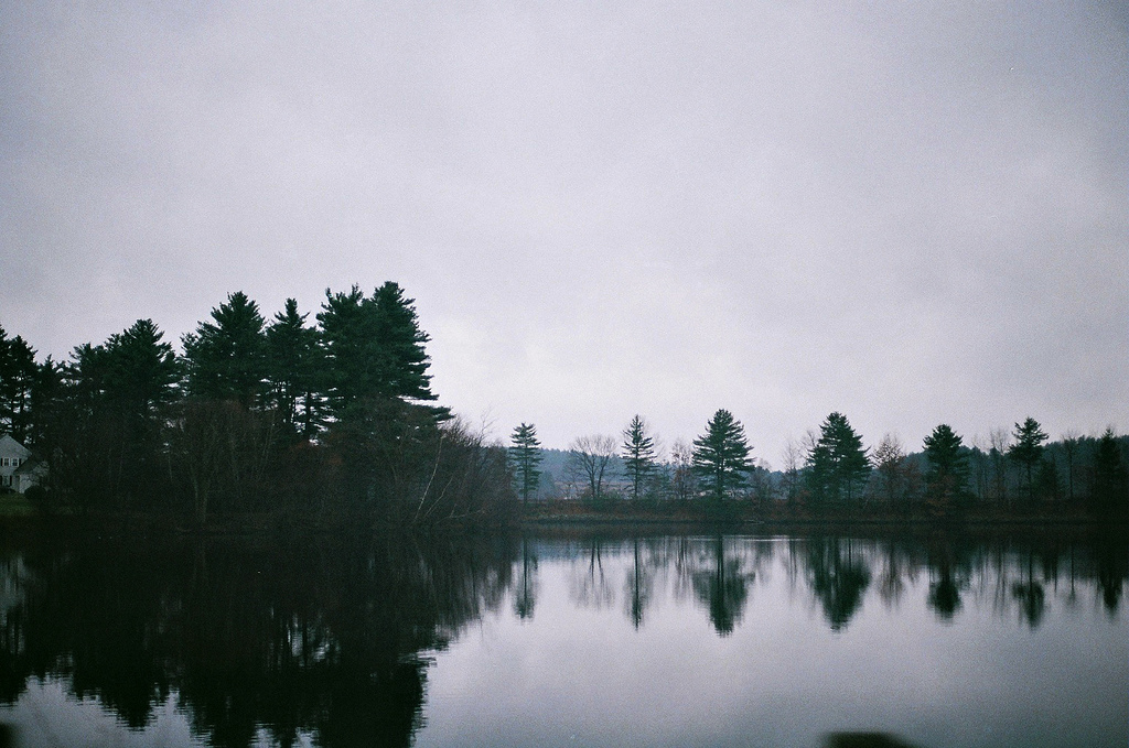 film, lake, nature, reflection, sky