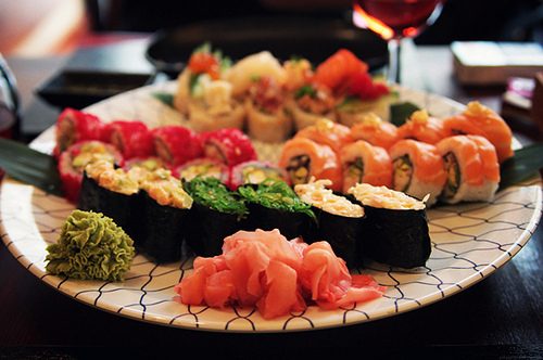 food, japanese, sushi, wasabi, yummy
