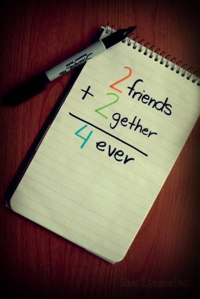 Quotes About Love And Friendship Forever : Forever friends love together image on favim