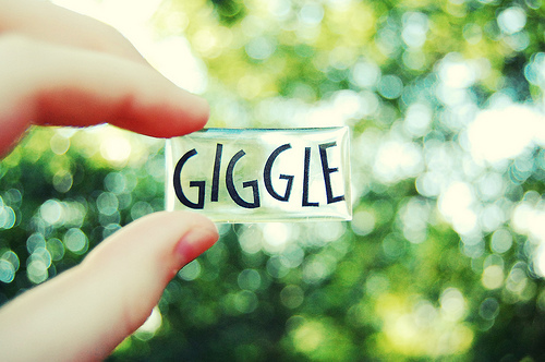 giggle, love, photography, text, typo