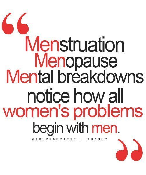 girl, life, men, menopause, menstruation