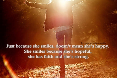 girl, life, quote, smile, strong