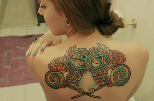 girl, owl, tatto, tattoo
