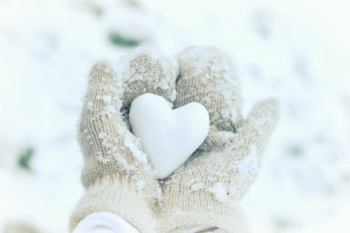 hands, heart, love, snow