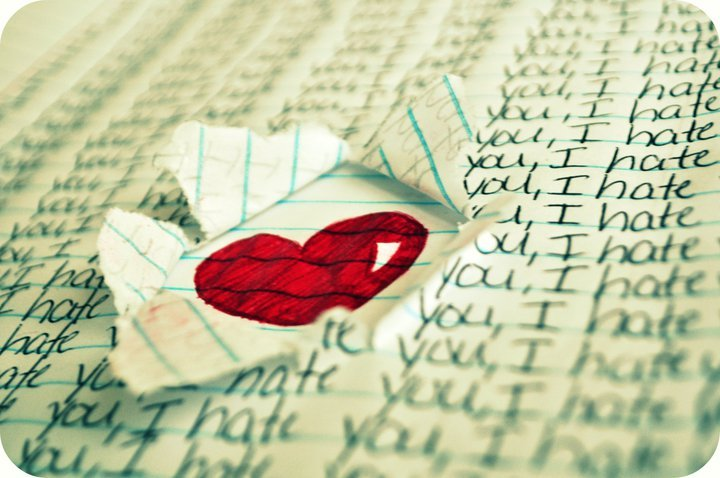 hate, heart, miss you, pen, photography