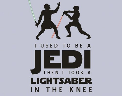 in the knee, skyrim, star wars