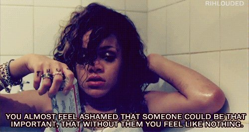inspiring, quote, rihanna, text, we found love