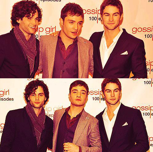 100 episodes, boys, chace crawford, chuck bass, ed westwick, gossip girl, hot, penn badgley