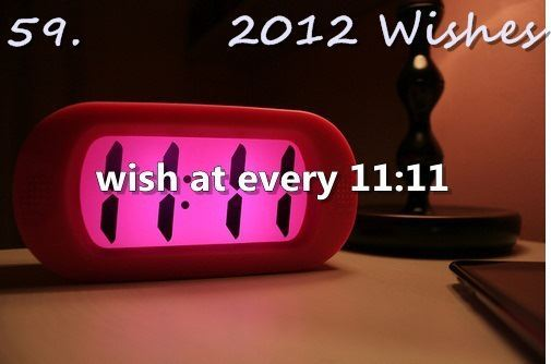 11:11, 2012 wish, 2012 wishes, clock, letter
