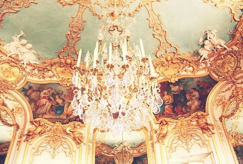 18th century, beautiful, chandelier, elegant, gold