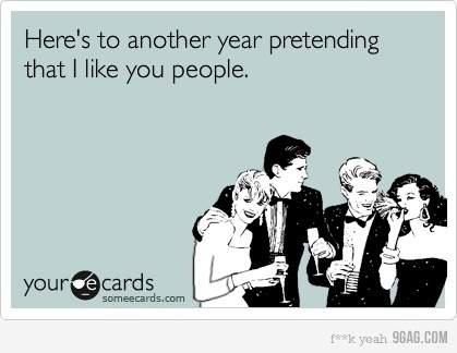 2012, 9gag, ecard, funny, happy new year, new year, people new year pretend, pretending